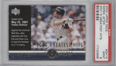 2002 Upper Deck 2001's Greatest Hits #GH10 - Derek Jeter [PSA 9]