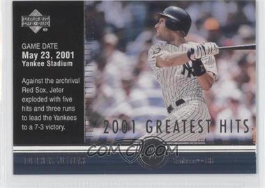 2002 Upper Deck 2001's Greatest Hits #GH10 - Derek Jeter