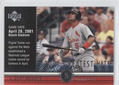 2002 Upper Deck 2001's Greatest Hits #GH3 - Albert Pujols