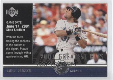 2002 Upper Deck 2001's Greatest Hits #GH4 - Mike Piazza