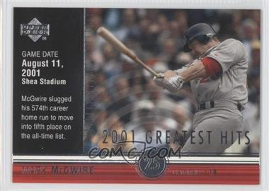 2002 Upper Deck 2001's Greatest Hits #GH6 - Mark McGwire