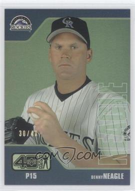 2002 Upper Deck 40 Man Electric Rainbow #994 - Denny Neagle /40