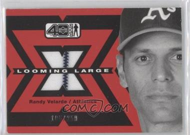 2002 Upper Deck 40 Man Looming Large Jerseys #L-RVE - Randy Velarde /250