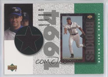 2002 Upper Deck Authentics - Retro UD Star Rookies Jerseys #SR-AR - Alex Rodriguez
