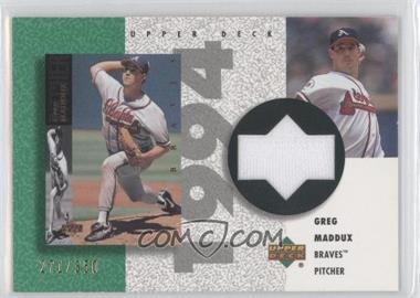 2002 Upper Deck Authentics Retro UD Jerseys #R-GM - Greg Maddux /350