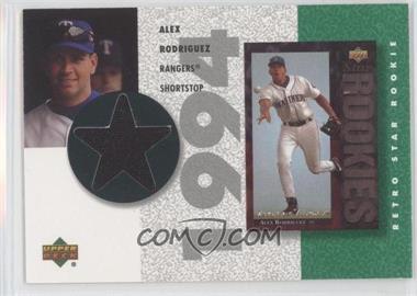 2002 Upper Deck Authentics Retro UD Star Rookies Jerseys #SR-AR - Alex Rodriguez