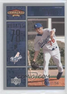 2002 Upper Deck Ballpark Idols #216 - Victor Alvarez /1750