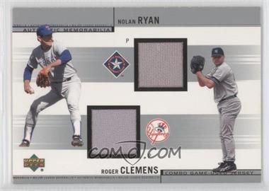 2002 Upper Deck Combo Game-Used Jerseys #CJ-RC - Nolan Ryan, Roger Clemens