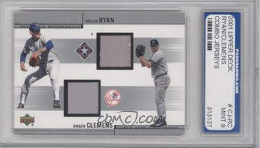2002 Upper Deck Combo Game-Used Jerseys #CJ-RC - Nolan Ryan, Roger Clemens [ENCASED]
