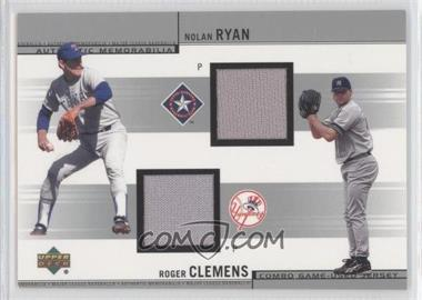 2002 Upper Deck Combo Game-Used Jerseys #CJ-RC - Nolan Ryan, Roger Clemens