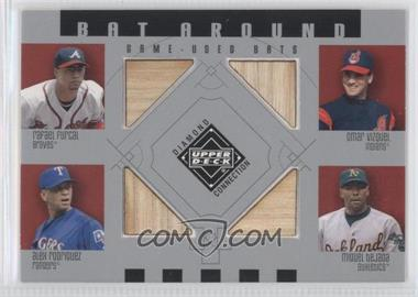 2002 Upper Deck Diamond Connection - Bat Around #BA-FVRT - Rafael Furcal, Omar Vizquel, Alex Rodriguez, Miguel Tejada