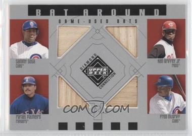 2002 Upper Deck Diamond Connection - Bat Around #BA-SGPM - Sammy Sosa, Ken Griffey Jr., Rafael Palmeiro, Fred McGriff