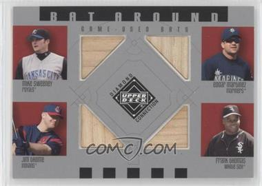 2002 Upper Deck Diamond Connection - Bat Around #BA-SMTT - Mike Sweeney, Edgar Martinez, Jim Thome, Frank Thomas