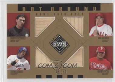 2002 Upper Deck Diamond Connection Bat Around Gold #BA-0SGA - Magglio Ordonez, Tim Salmon, Shawn Green, Bobby Abreu /50