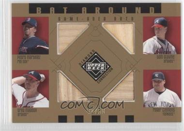 2002 Upper Deck Diamond Connection Bat Around Gold #BA-MGMC - Pedro Martinez, Greg Maddux, Tom Glavine, Roger Clemens /50