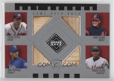 2002 Upper Deck Diamond Connection Bat Around #BA-FVRT - Rafael Furcal, Omar Vizquel, Alex Rodriguez, Miguel Tejada