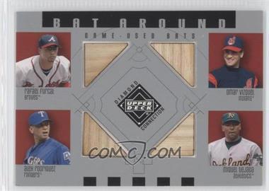2002 Upper Deck Diamond Connection Bat Around #BA-FVRT - Rafael Furcal, Omar Vizquel, Alex Rodriguez