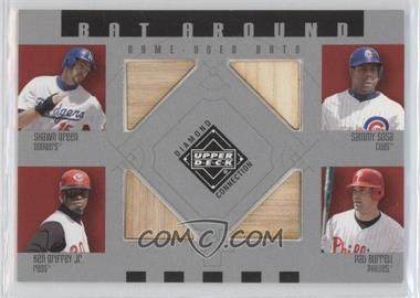 2002 Upper Deck Diamond Connection Bat Around #BA-GSGB - Shawn Green, Sammy Sosa, Ken Griffey Jr., Pat Burrell