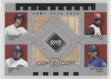 2002 Upper Deck Diamond Connection Bat Around #BA-HGSR - Todd Helton, Ken Griffey Jr., Sammy Sosa, Alex Rodriguez