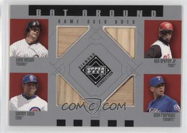 2002 Upper Deck Diamond Connection Bat Around #BA-HGSR - Todd Helton, Ken Griffey Jr., Sammy Sosa, Alex Rodriguez