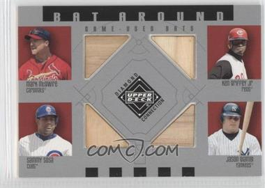 2002 Upper Deck Diamond Connection Bat Around #BA-MGSG - Sammy Sosa, Mark McGwire, Ken Griffey Jr., Jason Giambi