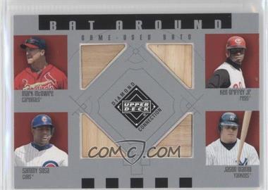 2002 Upper Deck Diamond Connection Bat Around #BA-MGSG - Sammy Sosa, Mark McGwire, Ken Griffey Jr., Jason Giambi