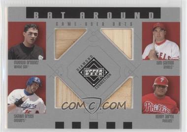 2002 Upper Deck Diamond Connection Bat Around #BA-OSGA - Magglio Ordonez, Tim Salmon, Shawn Green, Bobby Abreu