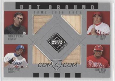 2002 Upper Deck Diamond Connection Bat Around #BA-OSGA - Magglio Ordonez, Tim Salmon, Shawn Green, Bobby Abreu