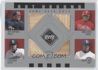 2002 Upper Deck Diamond Connection Bat Around #BA-SAKS - Gary Sheffield, Bobby Abreu, Ryan Klesko, Sammy Sosa