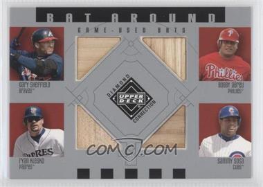 2002 Upper Deck Diamond Connection Bat Around #BA-SAKS - Gary Sheffield, Bobby Abreu, Ryan Klesko, Sammy Sosa