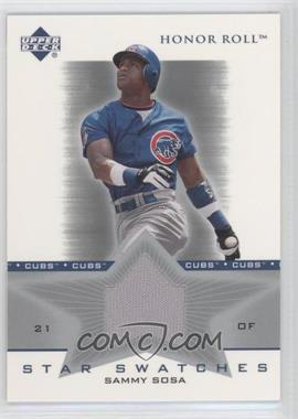 2002 Upper Deck Honor Roll - Star Swatches #SS-SS2 - Sammy Sosa