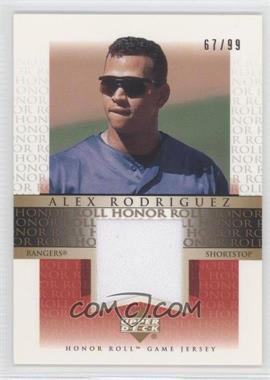 2002 Upper Deck Honor Roll [???] #J-AR4 - Alex Rodriguez /99