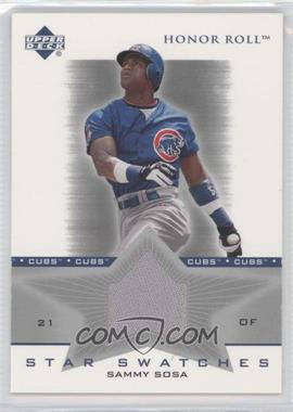 2002 Upper Deck Honor Roll [???] #SS-SS2 - Sammy Sosa