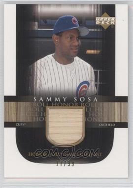 2002 Upper Deck Honor Roll Game-Used Bat #B-SS4 - Sammy Sosa /99