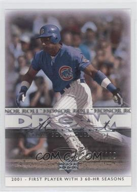 2002 Upper Deck Honor Roll Silver #63 - Sammy Sosa /100