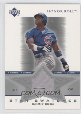 2002 Upper Deck Honor Roll Star Swatches #SS-SS2 - Sammy Sosa