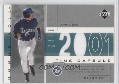 2002 Upper Deck Honor Roll Time Capsule Game Jersey #TC-I1 - Ichiro Suzuki