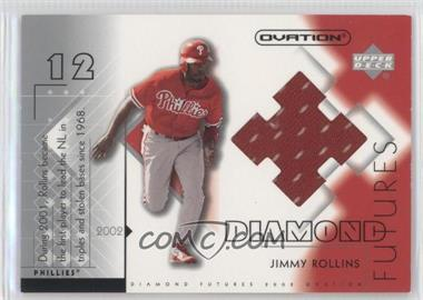 2002 Upper Deck Ovation Diamond Futures Jerseys #DF-JR - Jimmy Rollins