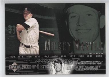 2002 Upper Deck Piece Of History - [Base] #38 - Mickey Mantle