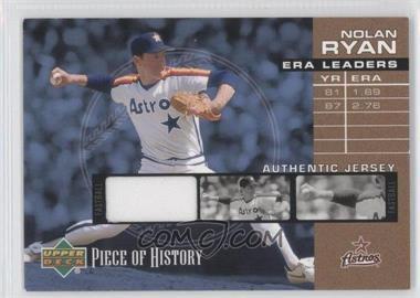 2002 Upper Deck Piece Of History - ERA Leaders - Memorabilia [Memorabilia] #EL-NR - Nolan Ryan