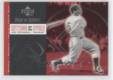 2002 Upper Deck Piece Of History - Hitting for the Cycle #H12 - Joe DiMaggio