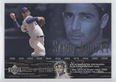 2002 Upper Deck Piece Of History [???] #65 - Sandy Koufax