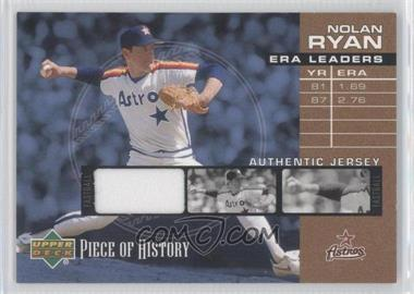 2002 Upper Deck Piece Of History [???] #EL-NR - Nolan Ryan