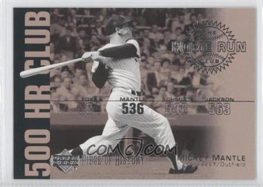 2002 Upper Deck Piece Of History 500 HR Club #HR4 - Mickey Mantle