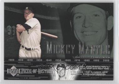 2002 Upper Deck Piece Of History #38 - Mickey Mantle