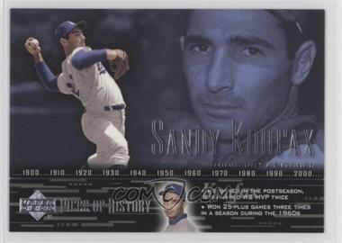2002 Upper Deck Piece Of History #65 - Sandy Koufax