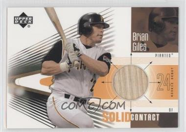 2002 Upper Deck Rookie Debut - Solid Contact #SC-BG - Brian Giles