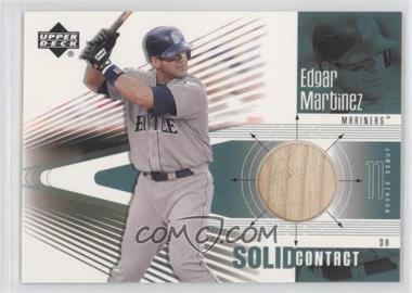 2002 Upper Deck Rookie Debut - Solid Contact #SC-EM - Edgar Martinez