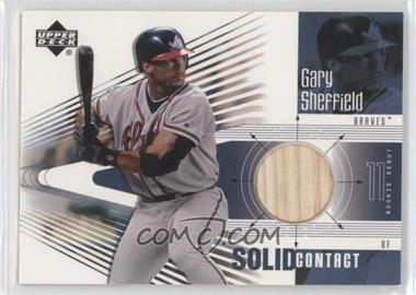 2002 Upper Deck Rookie Debut - Solid Contact #SC-GS - Gary Sheffield