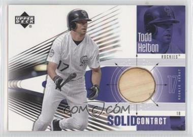 2002 Upper Deck Rookie Debut - Solid Contact #SC-TH - Todd Helton